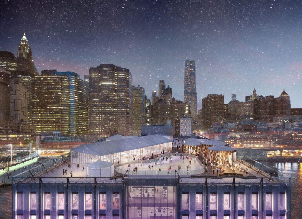 pista de patinaje sobre hielo en new york